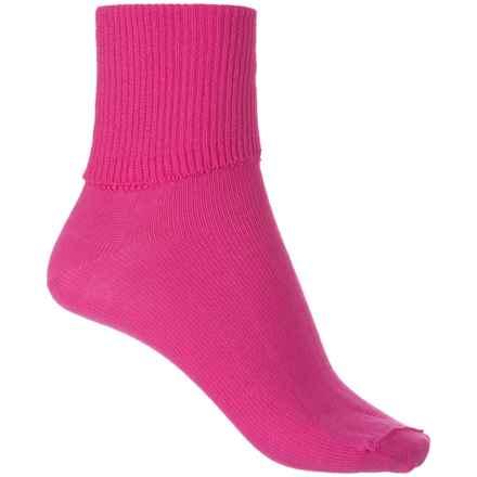 Wigwam Breeze Socks - Cotton-Nylon, Crew (For Women) in Fuscha - Closeouts