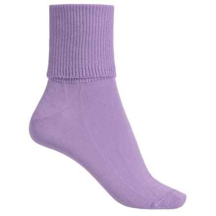 Wigwam Breeze Socks - Cotton-Nylon, Crew (For Women) in Lilac - Closeouts