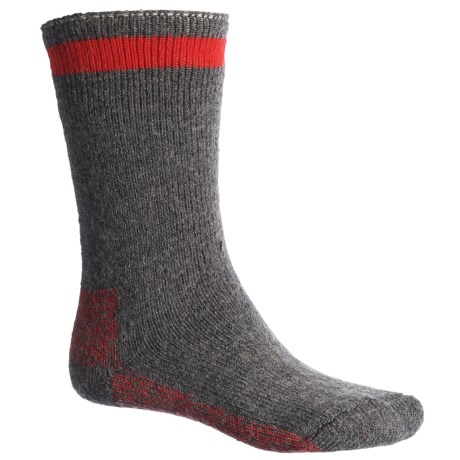 Wigwam Canada Boot Socks - Crew (For Men) in Grey/Red