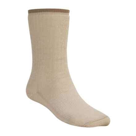 Wigwam Comfort Hiker Socks - Merino Wool, Crew (For Men and Women) in Light Khaki - 2nds