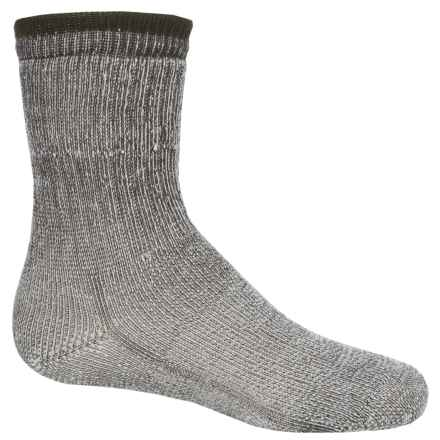 Wigwam Comfort Hiking Socks - Merino Wool, Crew (For Toddlers and Big Kids) in Charcoal Heather - 2nds