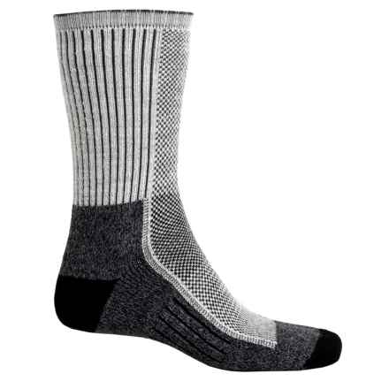 Wigwam Cool Lite Hiker Pro Socks - CoolMax®, Crew (For Men and Women) in Black/Grey - 2nds