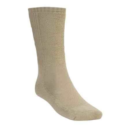 Wigwam Cool Lite Hiker Pro Socks - CoolMax®, Crew (For Men and Women) in Khaki - 2nds