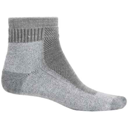 Wigwam Cool Lite Hiker Pro Socks - CoolMax®, Quarter Crew (For Men and Women) in Grey/Light Grey Heather - 2nds
