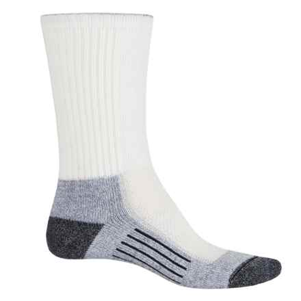 Wigwam Cool-Lite Hiker Pro Socks - Crew (For Men and Women) in White/Pewter - Closeouts