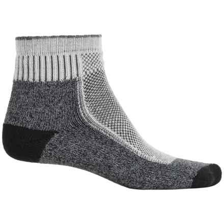 Wigwam Cool Lite Hiker Pro Socks - Quarter Crew (For Men and Women) in Charcoal/Cream/Black - 2nds