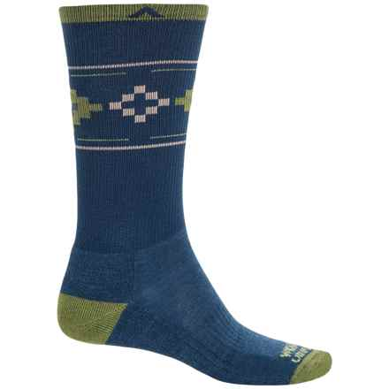 Wigwam Copper Canyon Pro Socks - Merino Wool Blend, Crew (For Women) in Blue/Green/Natural Cubes - 2nds