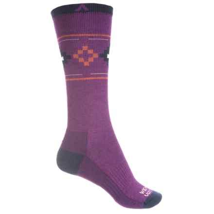 Wigwam Copper Canyon Pro Socks - Merino Wool Blend, Crew (For Women) in Deep Plum - 2nds