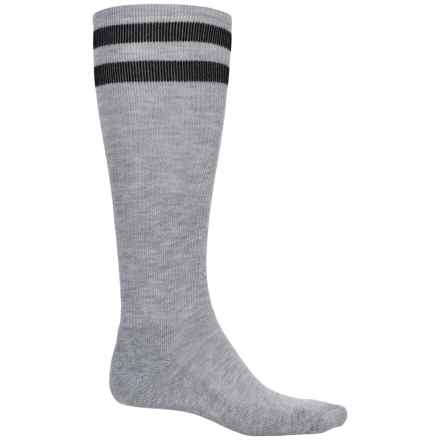 Wigwam Courtside Socks - Dri-Release®, Over the Calf (For Men) in Light Grey Heather/Black - 2nds