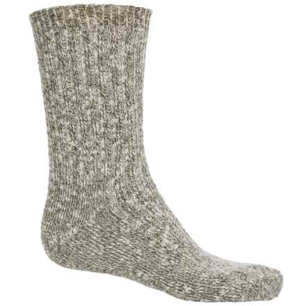 Wigwam Cypress Socks - Crew (For Men and Women) in Olive - 2nds