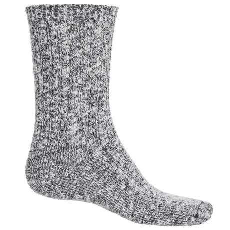 Wigwam Cypress Socks - Crew (For Men and Women) in White/Black
