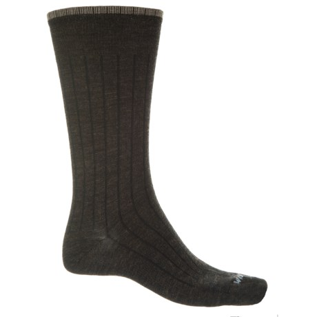 Wigwam Donavon Socks - Merino Wool, Crew (For Men) in Dark Brown Heather