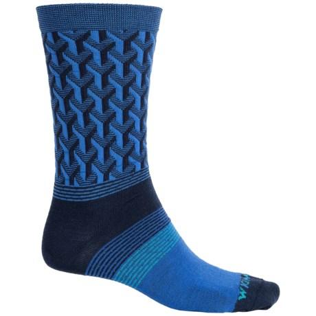 Wigwam Eastside Socks - Merino Wool, Crew (For Men) in Azure Blue