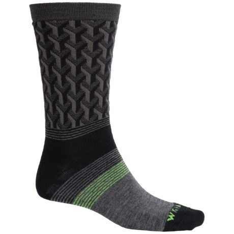 Wigwam Eastside Socks - Merino Wool, Crew (For Men) in Black