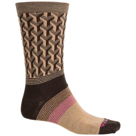 Wigwam Eastside Socks - Merino Wool, Crew (For Men) in Brown