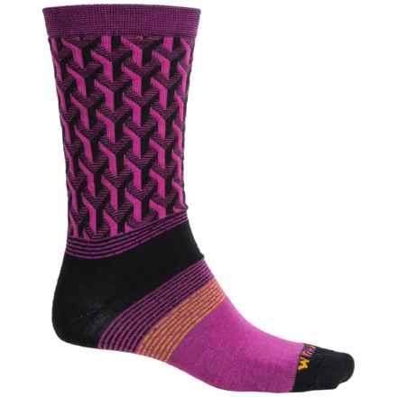 Wigwam Eastside Socks - Merino Wool, Crew (For Men) in Hot Magenta - Closeouts