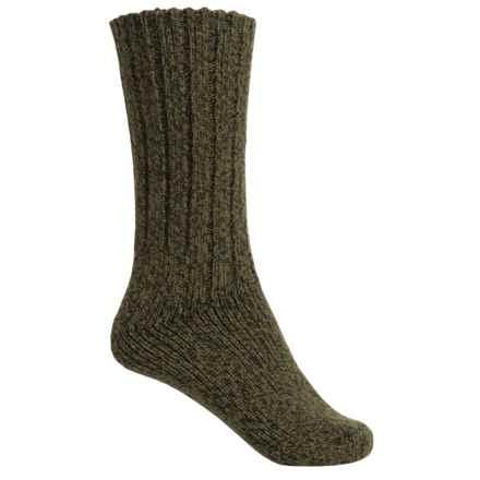 Wigwam El-Pine Classic Wool Socks - Crew (For Women) in Olive Heather - Closeouts