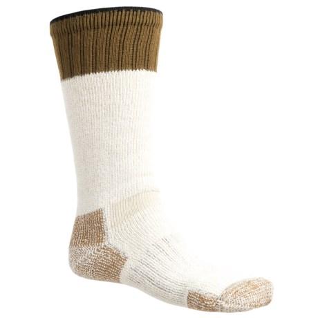 Wigwam Field Boot Socks - Mid Calf (For Men) in Cream/Brown