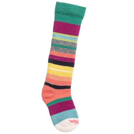 Wigwam Force Socks - Merino Wool, Over the Calf (For Little and Big Kids) in Rippled Frost