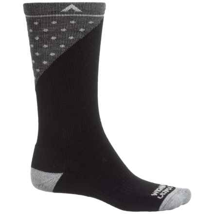 Wigwam Grays Peak Pro Socks - Merino Wool, Crew (For Men and Women) in Black - 2nds