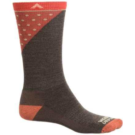 Wigwam Grays Peak Pro Socks - Merino Wool, Crew (For Men and Women) in Brown/Orange - 2nds