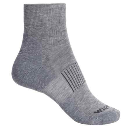 Wigwam High-Performance Hike Socks - Merino Wool, Quarter Crew (For Men) in Grey - 2nds