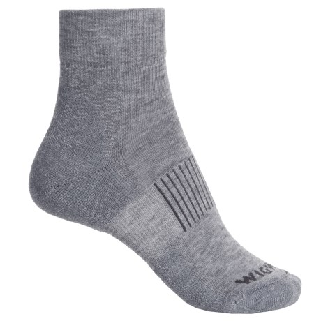 Wigwam High-Performance Hike Socks - Merino Wool, Quarter Crew (For Men) in Grey