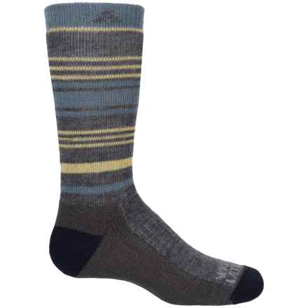 Wigwam Highline Pro Hiking Socks - Crew (For Youth) in Heather Grey Multi Stripe - 2nds