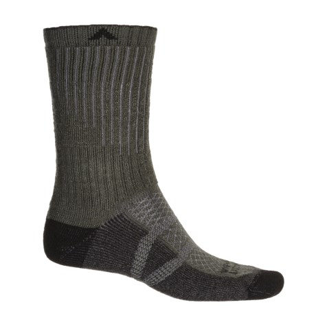 Wigwam Hiker Pro Socks - Crew (For Men and Women) in Charcoal