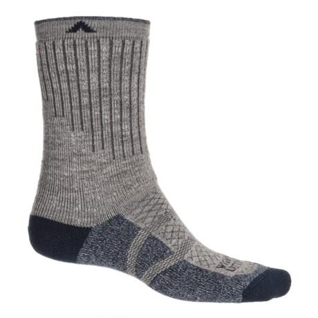Wigwam Hiker Pro Socks - Crew (For Men and Women) in Light Grey