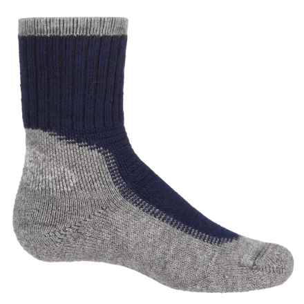 Wigwam Hiking-Outdoor Pro Socks - Crew (For Big Kids) in Navy/Pewter - Closeouts