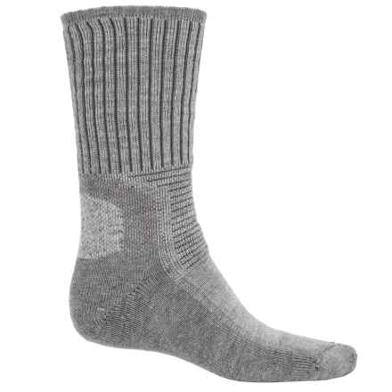 Wigwam Hiking Outdoor Pro Socks - Crew (For Men and Women) in Light Grey Heather - 2nds