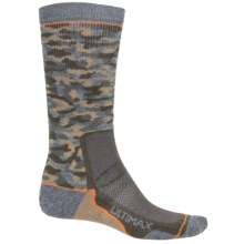 Wigwam I-Camo Pro Socks - Merino Wool, Crew (For Men and Women) in Olive Camo - 2nds