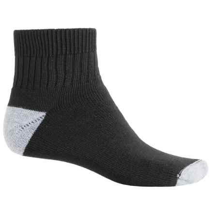 Wigwam I-Diabetic Midweight Sport Socks - Quarter Crew (For Men) in Black - 2nds