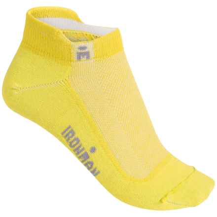 Wigwam Ironman Lightning Pro Low-Cut Running Socks - Below the Ankle (For Women) in Lemon Yellow - Closeouts