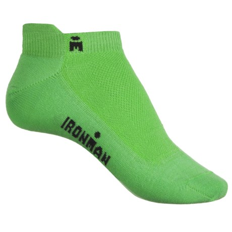 Wigwam IRONMAN® Lightning Pro Low-Cut Running Socks - Below the Ankle (For Women) in Lime/Macaw