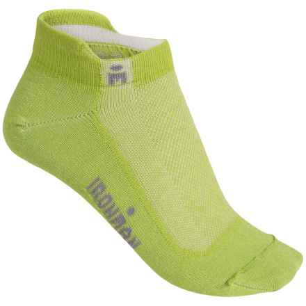 Wigwam IRONMAN® Lightning Pro Low-Cut Running Socks - Below the Ankle (For Women) in Limon - Closeouts