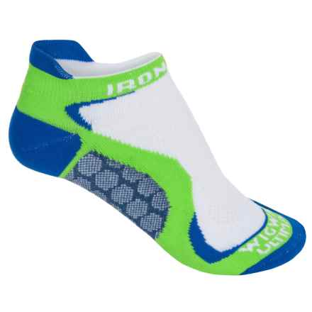 Wigwam Ironman Running Socks - Below the Ankle (For Women) in White/Lime/Royal Blue - 2nds