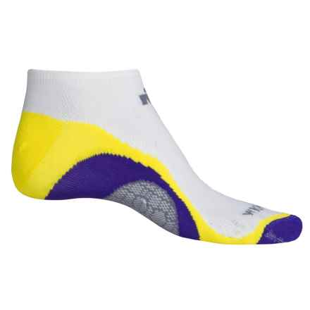 Wigwam IRONMAN® Velocity Pro Running Socks - Below the Ankle (For Men) in White/Yellow/Purple - 2nds