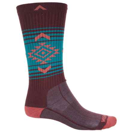 Wigwam Jewels Route NXT® Hiking Socks (For Men and Women) in Burgandy/Blue/Pink - 2nds