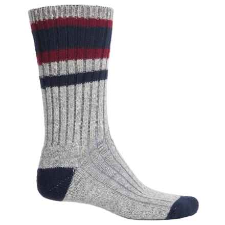 Wigwam Lakewood Midweight Socks - Crew (For Men) in Charcoal Heather/Burgundy - 2nds