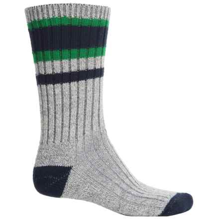 Wigwam Lakewood Midweight Socks - Crew (For Men) in Charcoal Heather/Green - 2nds