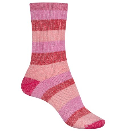 Wigwam Lil' Rascal CoolMax® Socks - Merino Wool, Crew (For LIttle and Big Kids) in Rose/Pink