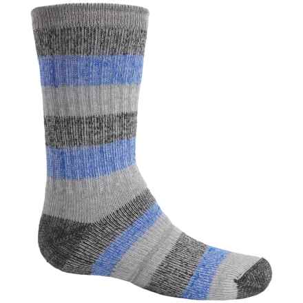 Wigwam Lil' Rascal Hiking Socks - Merino Wool Blend, Crew (For Little and Big Kids) in Grey/Blue - 2nds