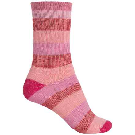 Wigwam Lil' Rascal Hiking Socks - Merino Wool Blend, Crew (For Little and Big Kids) in Pink/Red - 2nds