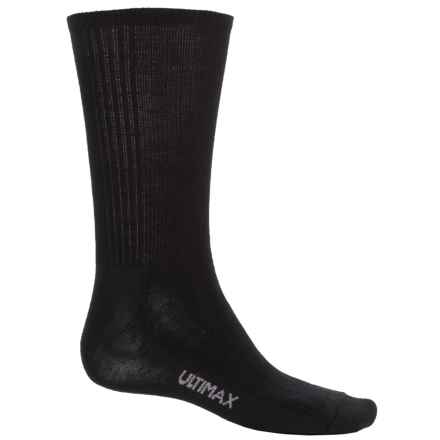 Wigwam Merino Airlite Pro Socks - Merino Wool Blend, Crew (For Men) in Black/Charcoal - 2nds