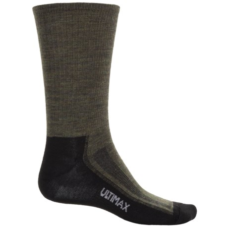 Wigwam Merino Airlite Pro Socks - Merino Wool Blend, Crew (For Men) in Green Heather/Black