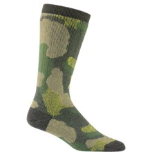 Wigwam Merino Camo Heavyweight Socks - Merino Wool, Crew (For Men) in 702 Green - Closeouts