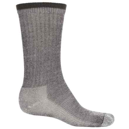 Wigwam Merino Comfort Hiker Socks - Merino Wool, Crew (For Men and Women) in Charcoal - 2nds