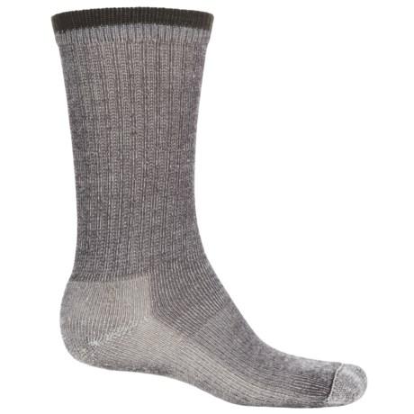 Wigwam Merino Comfort Hiker Socks - Merino Wool, Crew (For Men and Women) in Charcoal